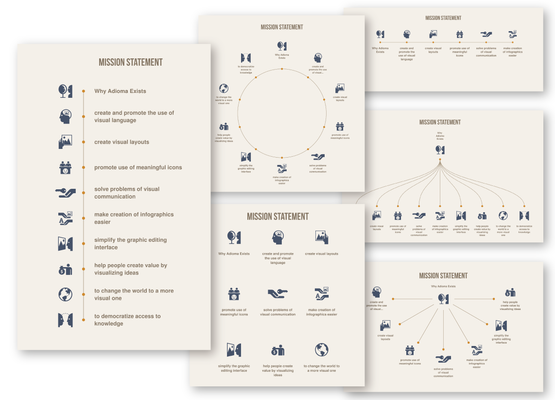 Adioma - Infographic Maker With Timelines, Grids and Icons